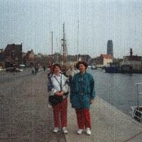 Meklemburgia Wismar, port, od l. Ewa Gwiazdowska, Barbara Grzelak-Ochendowska