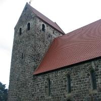 1 Schwaneberg-kościółz granitowych kwader 4 w XIII w