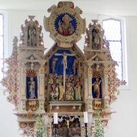 3 Ellingen w ołtarzu figury pożnogotyckie z XV w