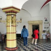 4 Penkun Zamek sala z jedną kolumną -zwiedzanie